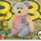 TY Beanie Baby Card # 163 B.B. the Birthday Bear-Style # 4253-2nd Ed -Ser 4-1999