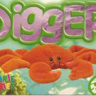 TY Beanie Baby Card # 175 Digger the Orange Crab-Style # 4027-2nd Ed -Ser 4-1999