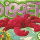 TY Beanie Baby Card # 176 Digger the Red Crab-Style # 4027-2nd Ed -Ser 4-1999