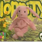 TY Beanie Baby Card # 198 Hoppity the Rose Bunny-Style # 4117-2nd Ed -Ser 4-1999
