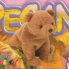 TY Beanie Baby Card # 217 Pecan the Bear-Style # 4251-2nd Ed -Ser 4-1999
