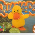 TY Beanie Baby Card # 220 Quackers the duck-Style # 4248-2nd Ed -Ser 4-1999