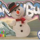 TY Beanie Baby Card # 231 Snowball the Snowman-Style # 4201-2nd Ed -Ser 4-1999