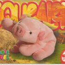 TY Beanie Baby Card # 236 Squealer the Pig-Style # 4005-2nd Ed -Ser 4-1999