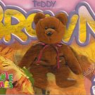 TY Beanie Baby Card # 242 Teddy Brown New Face-Style # 4050-2nd Ed -Ser 4-1999