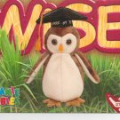 TY Beanie Baby Card # 254 Wise the Owl-Style # 4187-2nd Ed -Ser 4-1999