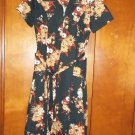 Flowered Black Ladies Dress - Size 14