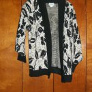 Black, White & Gold Sweater - Size Petite Medium (WillowRidge)