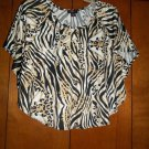 Ladies Cheetah/Zebra Shirt - Size L - (Ultra Flirt)