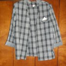 Ladies Gray Checkered Jacket - Size 18 (Amanda Blair)