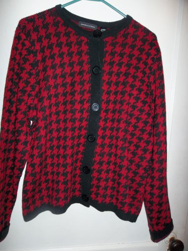 Ladies Red & Black Sweater - Size Large (Goodclothes)