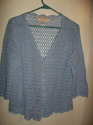 Ladies Lt. Blue Over Shirt/Jacket - Size L (Norm Thompson)