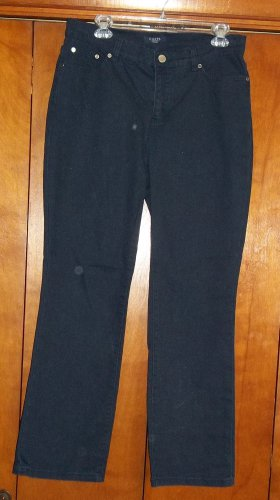 Ladies Black Jeans - Size 10P (Chaps)