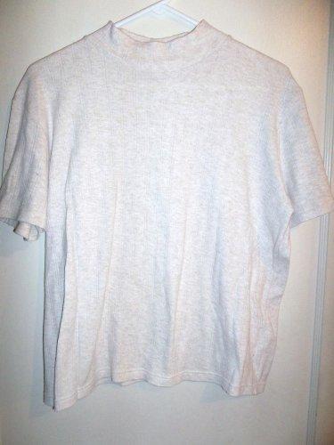 Ladies Light Beige Shirt - Basic Editions - Size Large