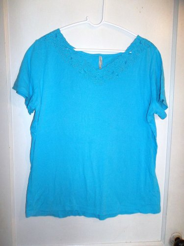 Ladies Blue Pull Over Shirt - White Stag - Size XL
