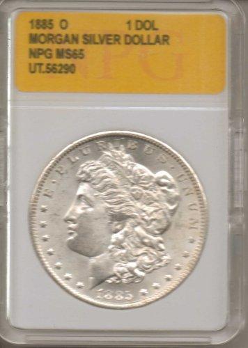 1885 O Morgan Silver Dollar NPG MS65 UT.56290
