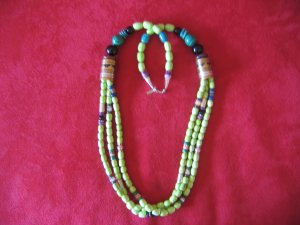 Tommy Singer 30 inch Gaspeite Multi Strand Necklace