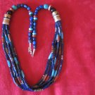Tommy Singer 30 inch Lapis Lazuli Multi Strand Necklace
