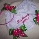 Diaper Cover w/changeable Bows and headband set