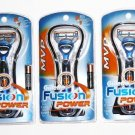3 Gillette Fusion MVP Power Razor with Battery