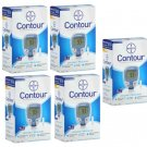 5 NEW Bayer Contour Glucose Monitoring Systems w/ 50 Test Strips