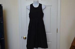 GAP Womens Black Boho Style Cute Round-Neck Waist Sleeveless Cotton Dress size 2