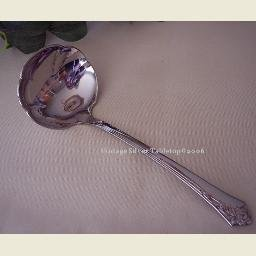 Oneida DAMASK ROSE Stainless Serving Ladle   NEW