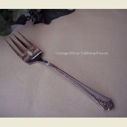 Oneida DAMASK ROSE Stainless Meat Serving Fork  NEW