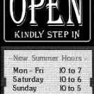Open Sign with Sliding Message Board (20x14) BLACK KSI