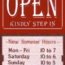 Open Sign with Sliding Message Board (20x14) RED KSI