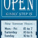 Open Sign with Sliding Message Board (20x14) BLU KSI