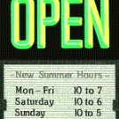 Open Sign with Sliding Message Board (20x14) GR/BLK BOLD