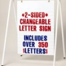 A-Frame Sidewalk Sign with Changeable Letters!