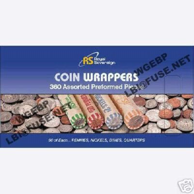 360 Assorted Preformed Coin Wrappers