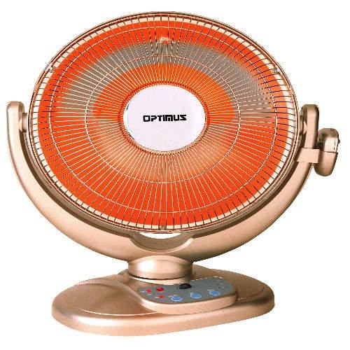 Optimus Oscillating Dish Radiant Heater - 14 inch