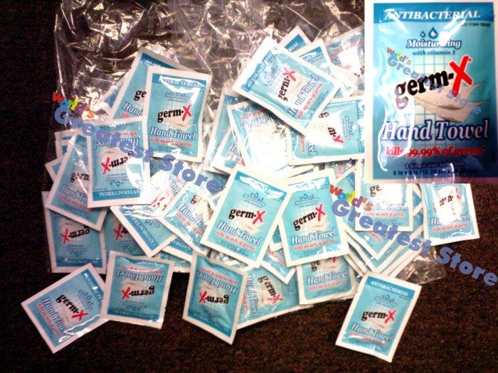Germ-X Antiseptic Hand Sanitizer 500 Individual Wipes Bulk