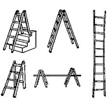 19' Multi Ladder - 24 ladders in 1 - HD 300lb COSCO NIB