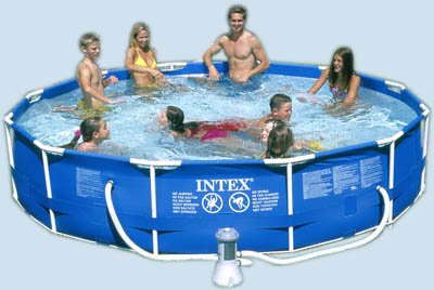 INTEX Metal Frame Above Ground Swimming Pool  1718Gallon