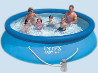 INTEX Oval Above Ground Swimming Pool 1485Gallon