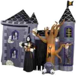 12' Airblown Illuminated Halloween Haunted House