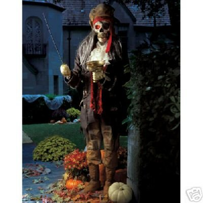 Halloween 6' Animated Talking Pirate w Microphone