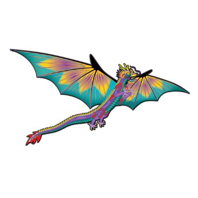 "Dragon Kite 75"" Wing Span, 6.5' Long Tail!"