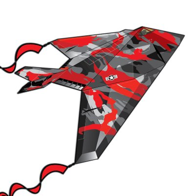 "F19 Stealth Fighter Nylon Kite 52"" Wing Span"
