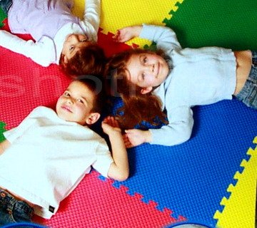 33.5 Sq Ft Foam Play Floor Reversible SAFETY MATS