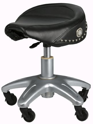 Biker Style Pneumatic Adjustable Roller Seat Stool