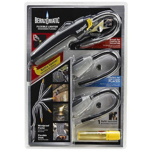 3 Bernzomatic Flexible Grill Lighters + Free Refill 1 Deluxe Upgrade