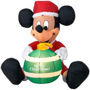 Disney 4 ft. LED Lighted Mickey Mouse Airblown