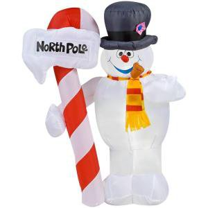 4 ft. Lighted Frosty Snowman Airblown Airblown Inflatable
