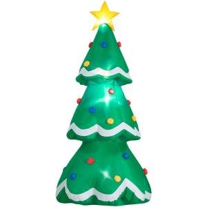 8 ft. Flashing LED Lighted Christmas Tree Airblown Inflatable