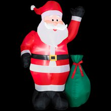 7 ft. LED Lighted Santa Airblown Airblown Inflatable